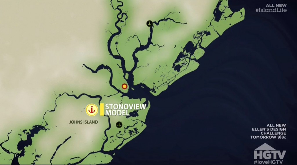 johns island community shown on HGTV Island Life map