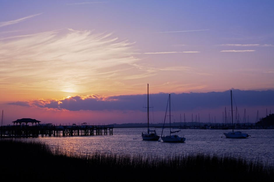 charleston sunset near johns island community